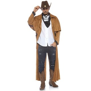 Mens Faux Suede Western Costume Coat - standard - one size