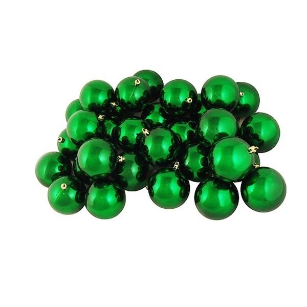 "12ct Shiny Xmas Green Shatterproof Christmas Ball Ornaments 4"" (100mm)"