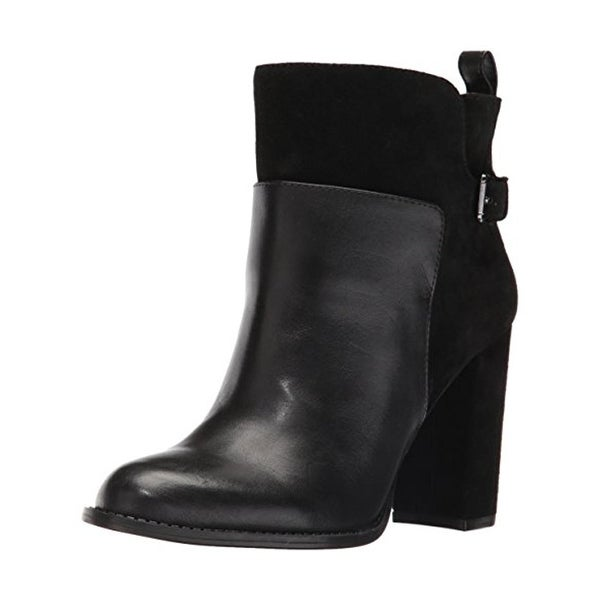 Nine West Womens Quinah Ankle Boots Leather Round Toe - 7 medium (b,m)