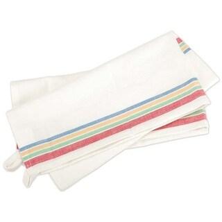 "Multi Stripe - Aunt Martha's Stitch 'Em Up Retro Stripe Towel 18""X28"" Bulk (50/Pack)"