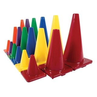 Poly Enterprises Classic Game Cones, 12 Inches, Set of 6
