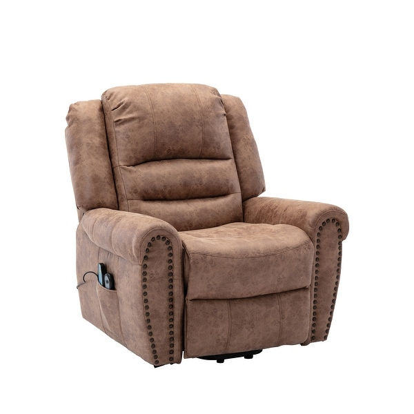 Power Lift Assist Recliner with Massage. Opens flyout.