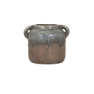 IMAX Home 13326  Bardot Small Ceramic Vase - Gray