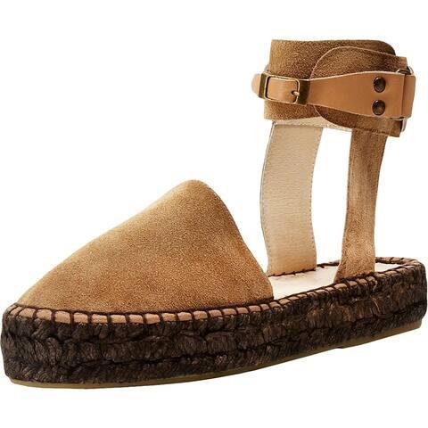 Free People Womens Espadrilles Suede Sandals - Manu Croste Oris - 37 Medium (B,M)