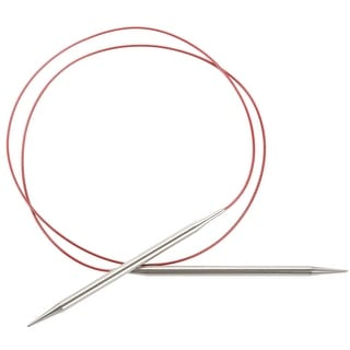 """Red Lace Stainless Steel Circular Knitting Needles 40""""-Size 2/2.75Mm"""