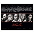 ''Thinker (Quintet): Peace, Power, Respect, Dignity, Love'' by Anon African American Art Print (8 x 10 in.) - Thumbnail 0