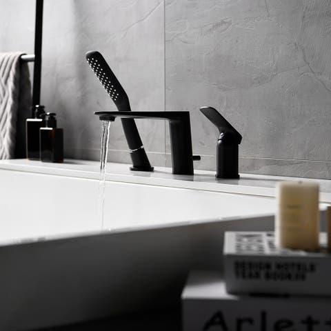 Single Handle Deck Mounted Roman Tub Faucet