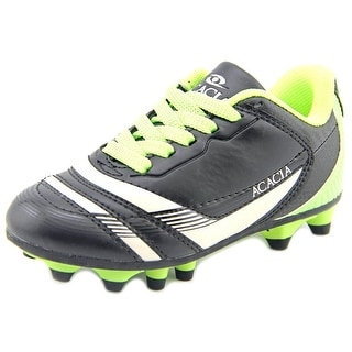 Acacia THUNDER SOCCER Youth Round Toe Leather Black Cleats