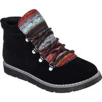 Skechers Women's BOBS Alpine Smores Ankle Boot Black