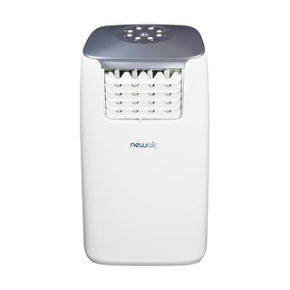 NewAir AC-14100H 14,000 BTU Portable Air Conditioner and Heater - white & gray