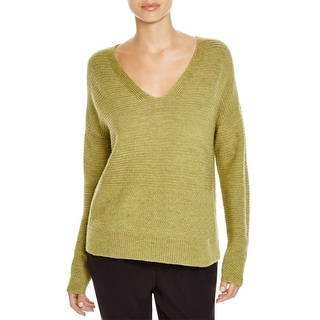 Eileen Fisher Womens Petites Pullover Sweater Wool V-Neck