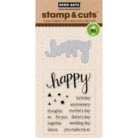 Happy - Hero Arts Stamp & Cuts