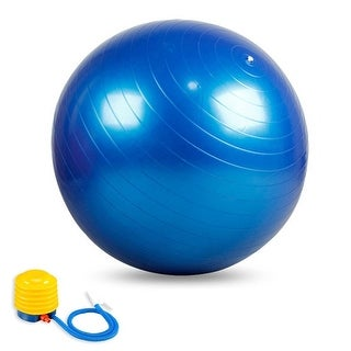ODOLAND 10-in-1 Fitness Yoga Ball Kit Anti Burst Balance Ball w/ Air Pump Resistance Bands