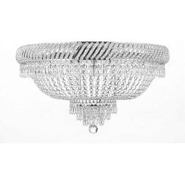 Flush French Empire Crystal Chandelier Light Lighting Fixture