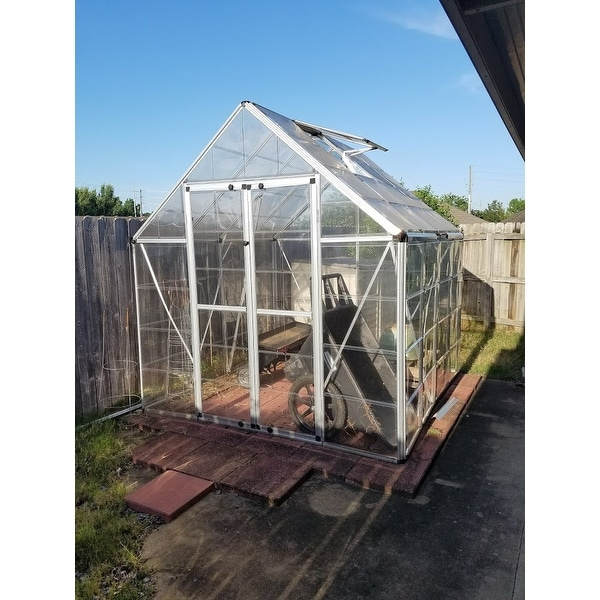 Shop Palram Silver 8ft  x 8-ft  Snap and Grow Greenhouse