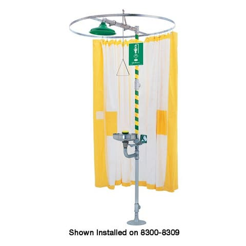 Haws 9037 Privacy curtain designed to be used on horizontal emergency drench shower or combination emergency drench shower and
