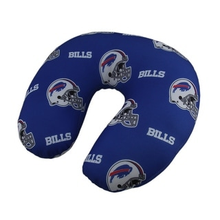 Officially Licensed Buffalo Bills Logo Beaded Travel Neck Pillow - Blue