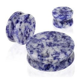 Solid Blue Spot Semi Precious Stone Double Flared Plug (Sold Individually) (Option: 00 Gauge)|https://ak1.ostkcdn.com/images/products/is/images/direct/7b9c5e213959ff830ec4712241330b1cd0d8a333/Solid-Blue-Spot-Semi-Precious-Stone-Double-Flared-Plug-%28Sold-Individually%29.jpg?impolicy=medium