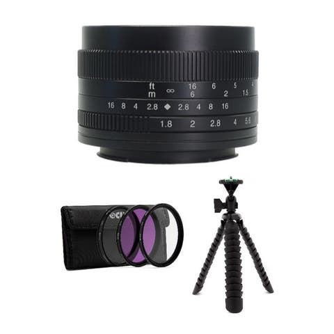 7artisans Photoelectric 50mm f/1.8 Lens for Fujifilm X (Black) Bundle