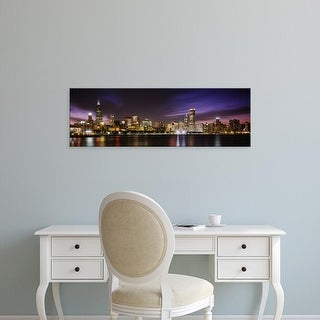 Easy Art Prints Panoramic Image 'Buildings at the waterfront, Sears Tower, Lake Michigan, Chicago, Illinois' Canvas Art