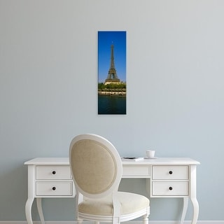 Easy Art Prints Panoramic Images's 'Low angle view of a tower, Eiffel Tower, Paris, France' Premium Canvas Art