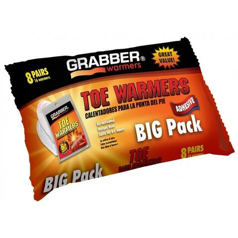 Grabber TWES8 Adhesive Toe Warmers Big Pack, 6+ Hours, 8-Pairs