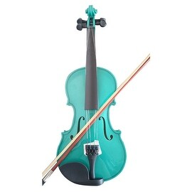 Student Acoustic Violin Full 4/4 Maple Spruce with Case Bow Rosin Green Color