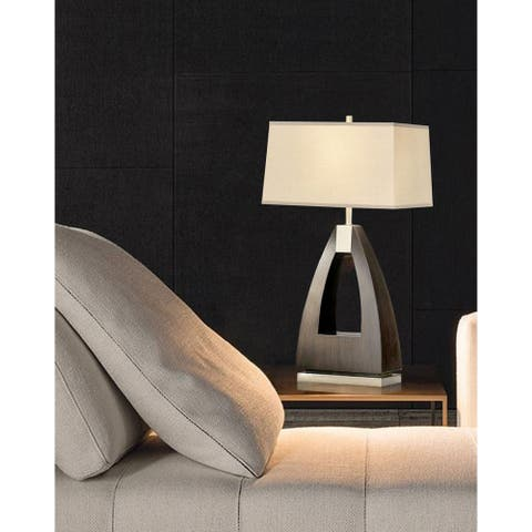 Trina Brushed Nickel Table Lamp