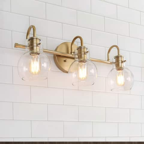 "Modern Bathroom Wall Sconces Gold Vanity Lighting for Powder Room - L22""x W7""x H9"" - L22""x W7""x H9"""