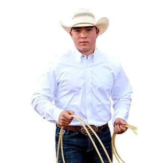 Cinch Western Shirt Mens Long Sleeve Modern Pocket White