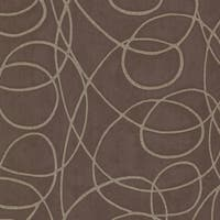 Brewster HZN43026 Novia Espresso Geometric Swirl Wallpaper - espresso swirl