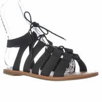 Wanted  Chillie Lace-Up Gladiator Sandals, Black - 8 us