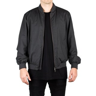 Prada Men's Virgin Wool Reversible Windbreaker Jacket Slate Grey
