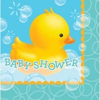 """Club Pack of 192 Bubble Bath """"Baby Shower"""" 2-Ply Disposable Lunch Napkins 6.5"""" - Blue"""