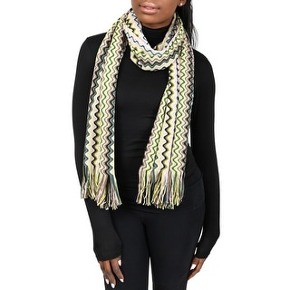 Missoni D4897 Wool Blend Crochet Knit Wave Scarf
