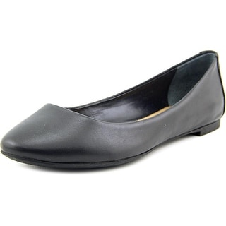 Alfani Gessey Women Round Toe Leather Black Flats