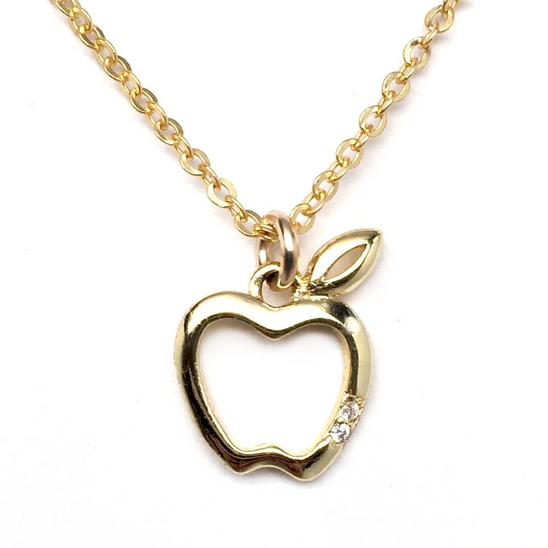 "Julieta Jewelry Cross Heart Gold Charm 16"" Necklace - Thumbnail 0"