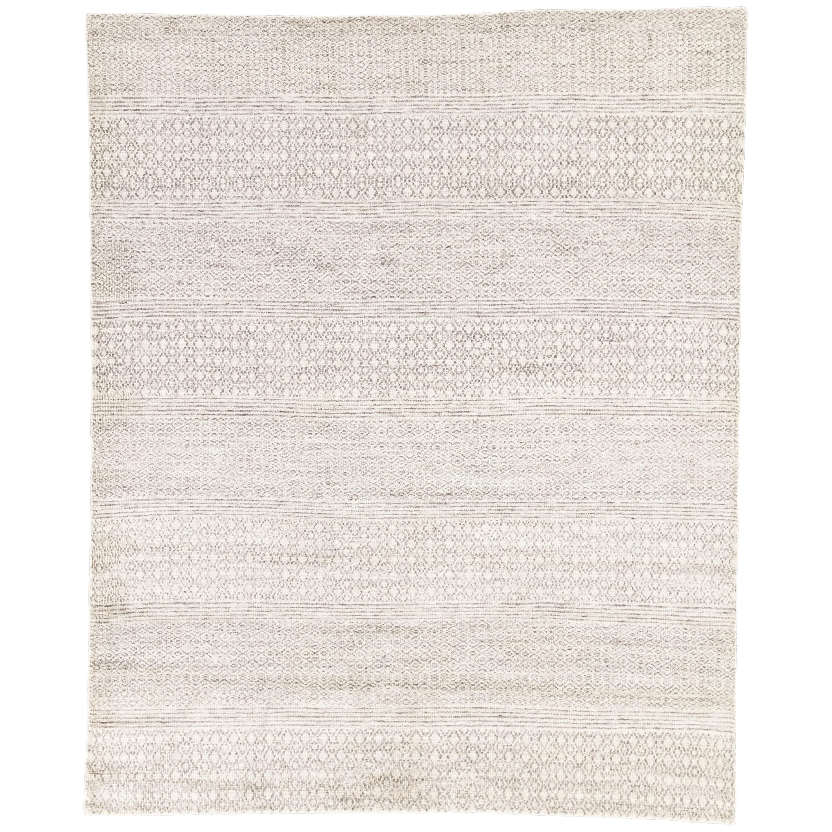 Kelis Hand Knotted Geometric Ivory Dark Grey Area Rug On Sale Overstock 20598613