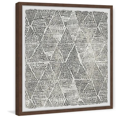 'Black Triangles' Framed Painting Print
