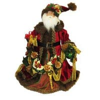 """23"""" Red and Brown Santa Claus Christmas Table Piece"""