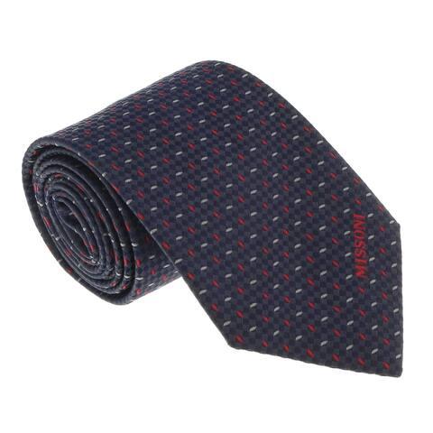 Missoni U5567 Grey/Silver Graphic Pure Silk Tie - 60-3