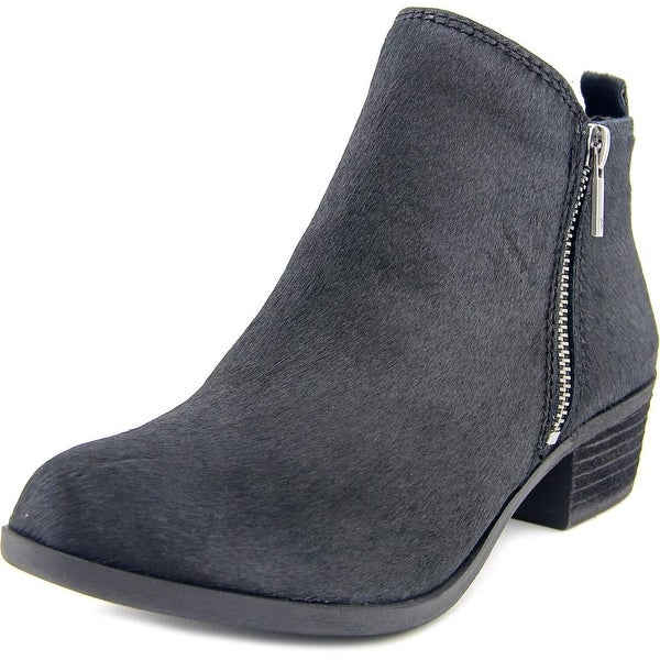 Lucky Brand Basel 2 Women Round Toe Suede Black Bootie