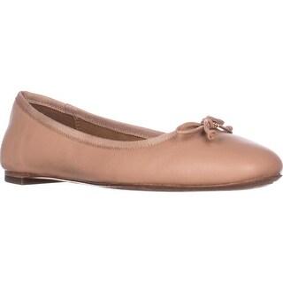 Coach Flatiron Bow Detail Ballet Flats, Shell