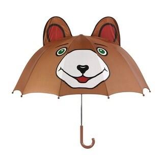Boys Brown Child Size Bear Ears Lightweight Umbrella
