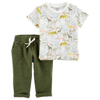 Carter's Baby Boys' 2-Piece Slub Jersey Top & Pant Set