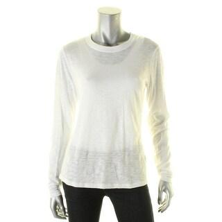 Vince Womens Pullover Top Long Sleeves Slub - m