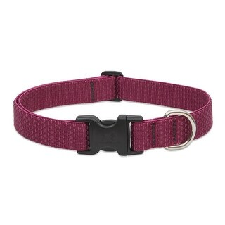 "Lupine 36953 ECO Adjustable Collar for Large Dogs, Berry Pattern, 1"" x 16-28"""