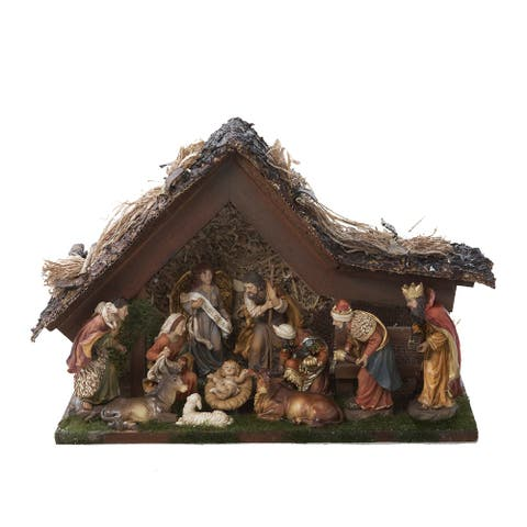Kurt Adler 9.5-in. Musical LED Nativity Set