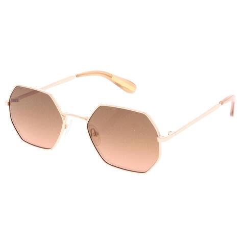 BCBGMAXAZRIA Womens Wire Sunglasses Geometric Retro Inspired Red O/S