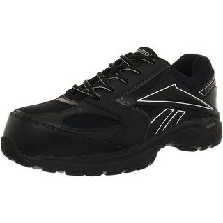 Reebok Mens Leather Slip Resistant Work Shoes - 7.5 medium (d)